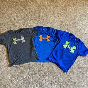 Boys bundle of Under Armour heat gear shirts